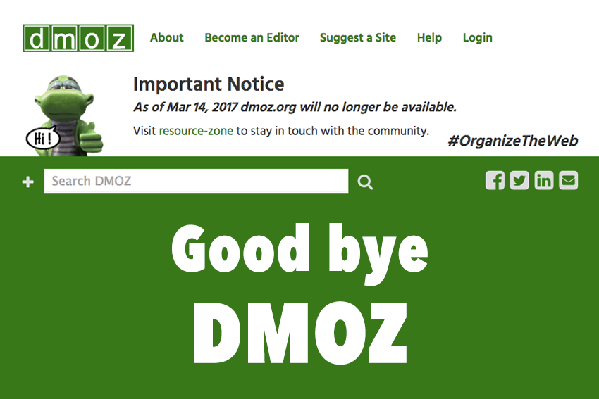 Directory DMOZ Ditutup